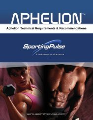 Aphelion Requirements and Recomendations - PulseTec Solutions ...