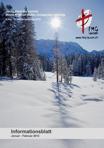 Ausgabe Januar / Februar 2012 - FMG Lausen