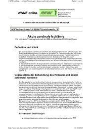 Akute zerebrale Ischämie AWMF online - Reanitrain