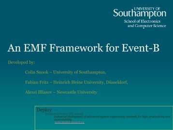 An EMF Framework for Event-B - Deploy Repository - University of ...