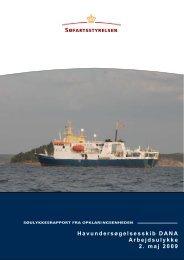 Havundersøgelsesskib DANA Arbejdsulykke 2 ... - Søfartsstyrelsen