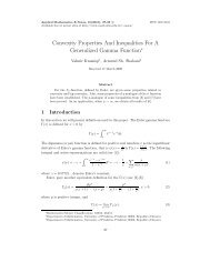 Convexity Properties And Inequalities For A Generalized Gamma ...