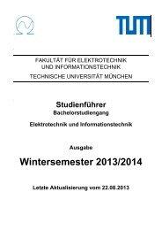 Studienführer - Fakultät für Elektrotechnik und Informationstechnik