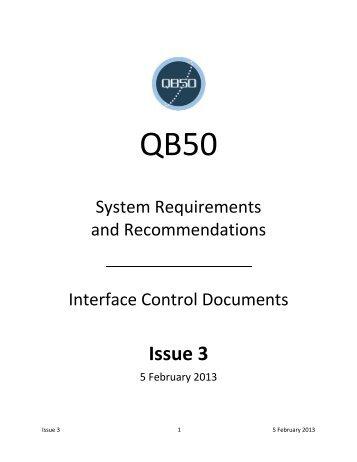 QB50 System Requirements Document