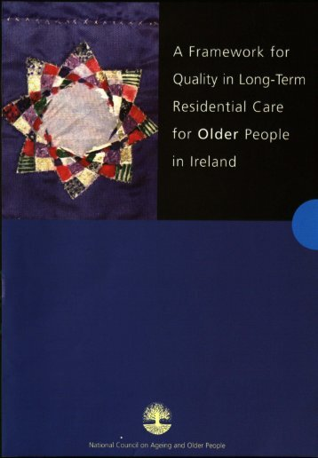 Framework for Quality in Long-Term Residential Care for Older ...