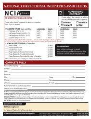 2013 NCIA News Advertising Contract - National Correctional ...