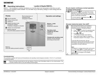 landis and staefa instructions
