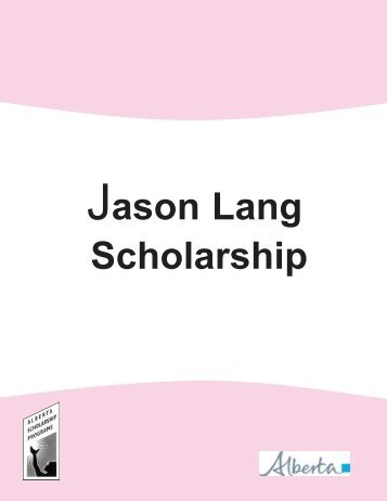 Jason Lang Scholarship