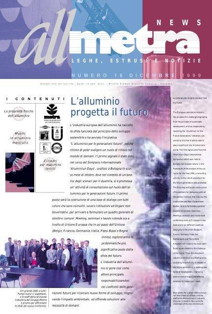 L'alluminio progetta il futuro - Metra SpA