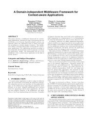 A Domain-independent Middleware Framework for Context-aware ...