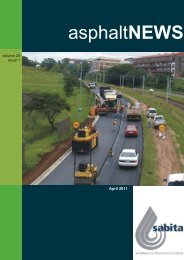 asphaltNEWS - Southern Africa Bitumen Association