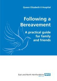 Following a Bereavement - East and North Herts NHS Trust