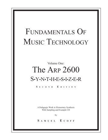 ARP2600 - Fundamentals of Music Technology - Cyborgstudio.com