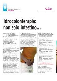 Idrocolonterapia: non solo intestino... - Diagnosi e Terapia