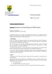 Préavis 2010/14 Acquisition d'un véhicule léger pour le ... - Yvonand
