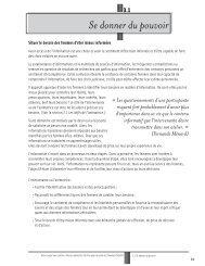 Se donner du pouvoir - Réseau québécois d'action pour la santé ...