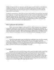 Extended Essay - Atlanta Public Schools