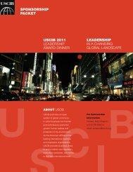 uscib 2011 leadership award dinner leadership in a changing global ...