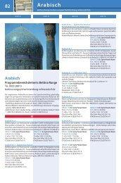 83 Arabisch - Volkshochschule City West