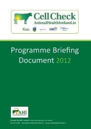 Programme Briefing Document 2012 - Animal Health Ireland