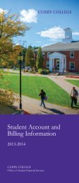 Student Account and Billing Information - Curry College