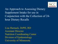 An Approach to Assessing Dietary Supplement Intake for use in ...