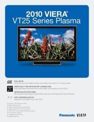 2010 VIERA® VT25 Series Plasma - The Big Screen Store