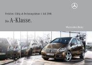 Die A - Klasse. - Mercedes Benz