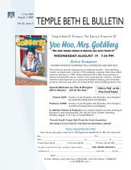 Aug Bulletin 09.indd - Temple Beth El