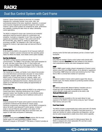 Spec Sheet: RACK2 - Crambo