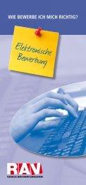 Elektronische Bewerbung - Treffpunkt-Arbeit