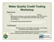 Overview of Water Quality Credit Trading - Conservation Technology ...