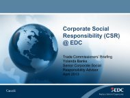 CSR at EDC - Export Development Canada (EDC)