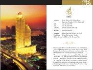 Address: State Tower, 1055 Silom Road, Bangrak, Bangkok ... - Lebua
