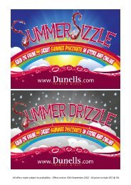 Summer Sizzle Promotions List (pdf) - Dunell's
