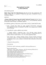 Közszolgáltatási Szerződés I. számú módosítása - Miskolc
