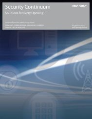 Security Continuum brochure from ASSA ABLOY Door ... - NFMT