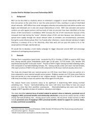 Creative Brief for MPC - CONCURRENT SEXUAL PARTNERSHIPS ...