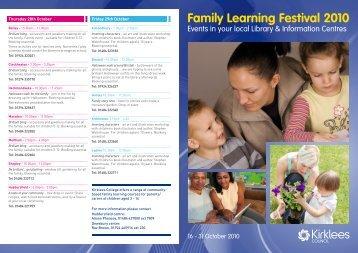 Family Learning Festival 2010 - CLiK - Community Learning in ...