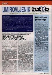 'Umirovljenik', broj 1/2005. - Hrvatski zavod za mirovinsko osiguranje