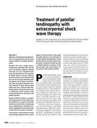 Treatment of patellar tendinopathy with ... - Chroniccure.net