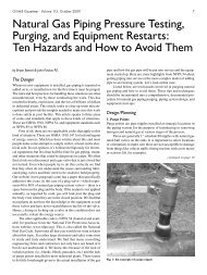 Natural Gas Piping Pressure Testing, Purging, and Equipment ...