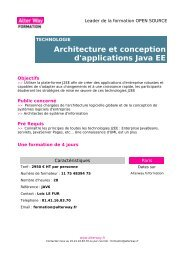 Architecture et conception d'applications Java EE - Alter Way