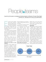 People in Teams - Oliver Wight Americas