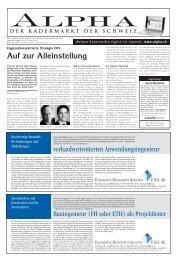 Auf zur Alleinstellung - Tagesanzeiger e-paper - Tages-Anzeiger