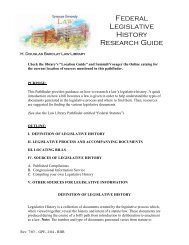 Federal Legislative History Research Guide
