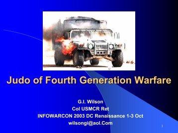 Judo of Fourth Generation Warfare - Knowledge on Line
