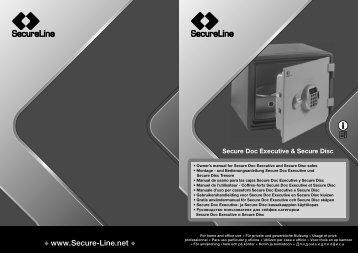 SecureLine Secure Doc Executive Safes Manual - Safe Runner