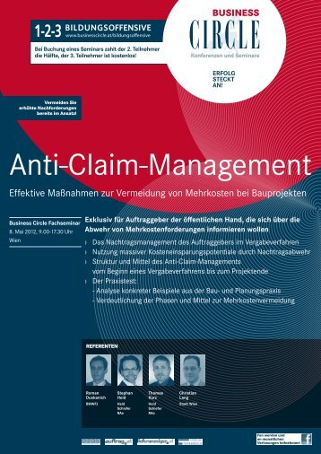 Anti-Claim-Management - Business Circle