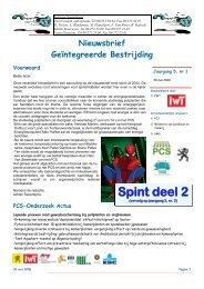 nieuwsbrief 14 spint deel 2 afgewerkt - PCS